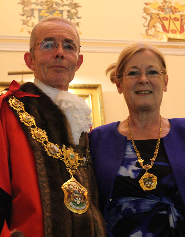 Mayor David Whalley and his Mayoress Barbara Whalley