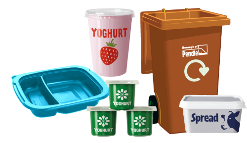 Examples of plastic items which can be recycled