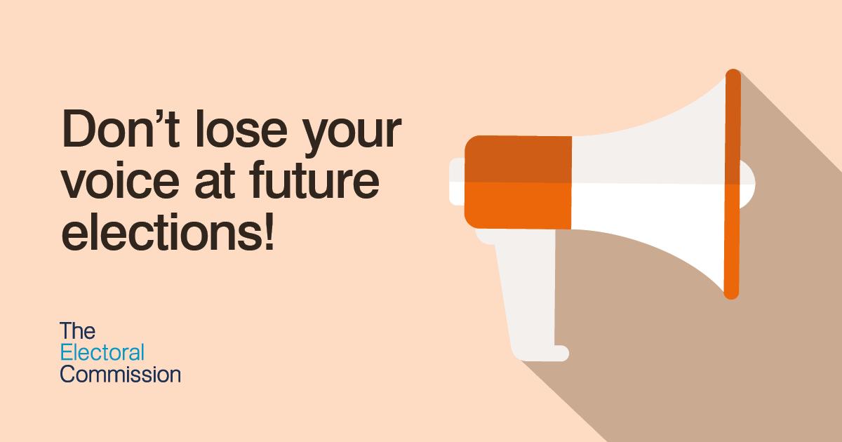 Don't lose your voice – check your voter registration details
