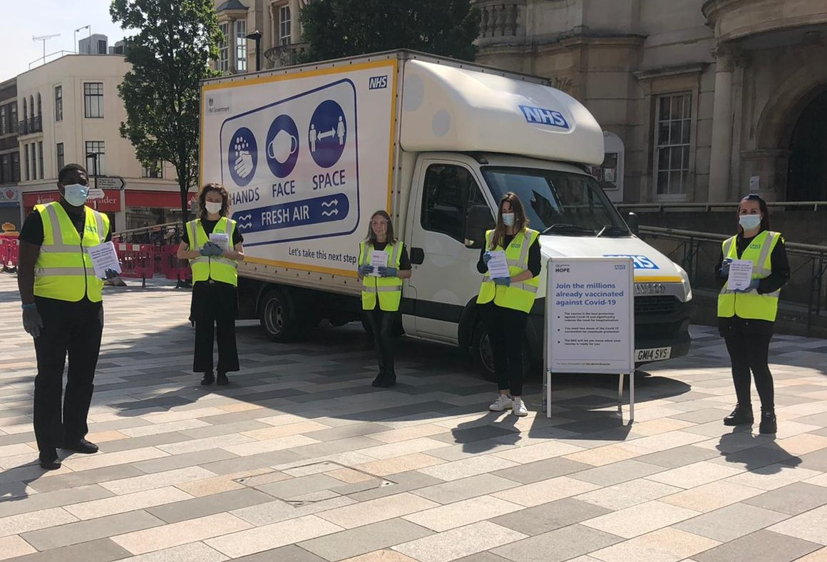 Government Covid street teams in Pendle will urge people to get vaccinated