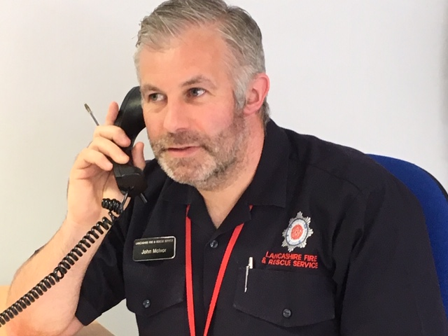 Fire Prevention Officer John on frontline at vaccination centres