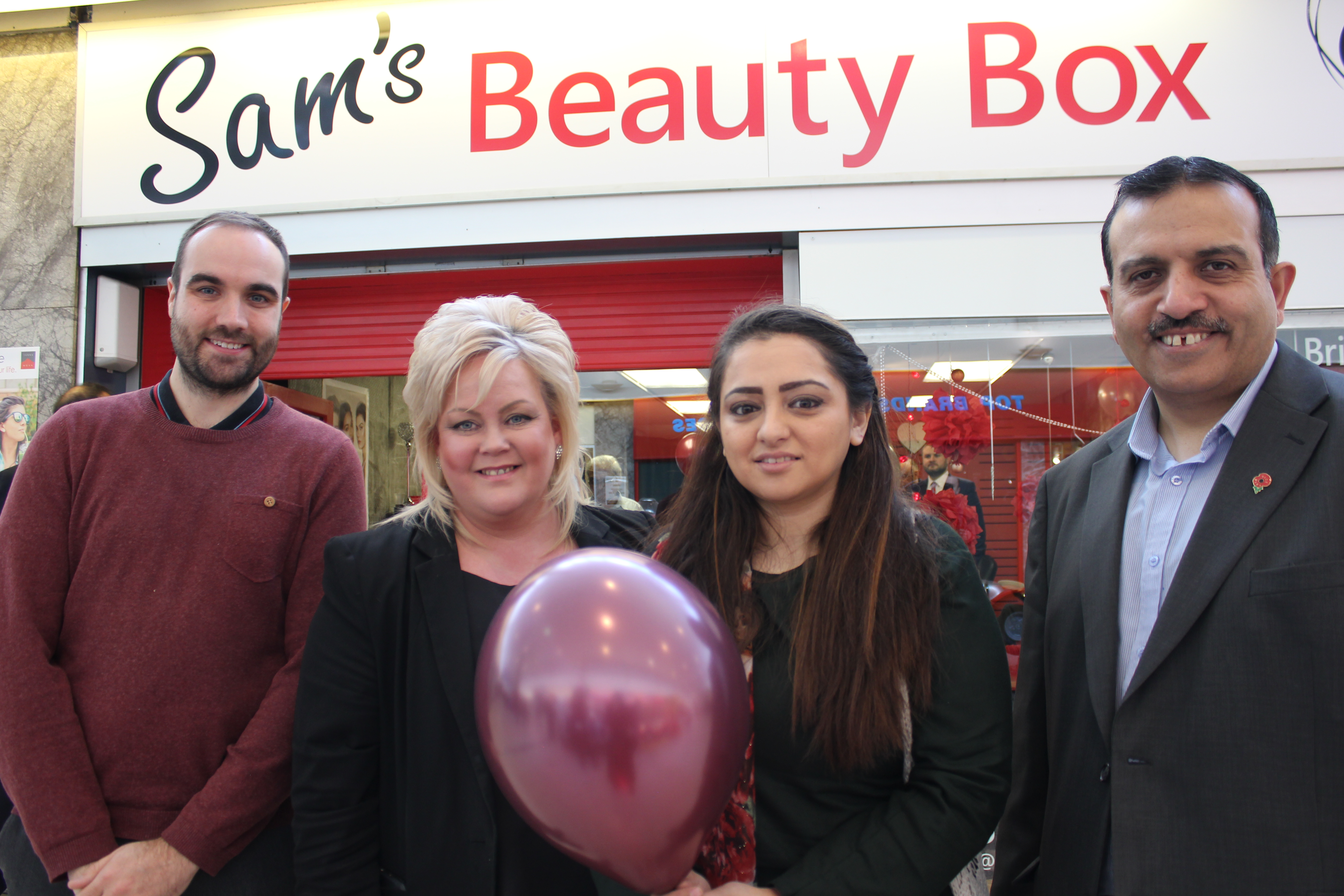 Sam's Beauty Box triumphs in Pendle Rise  Win a Shop Competition