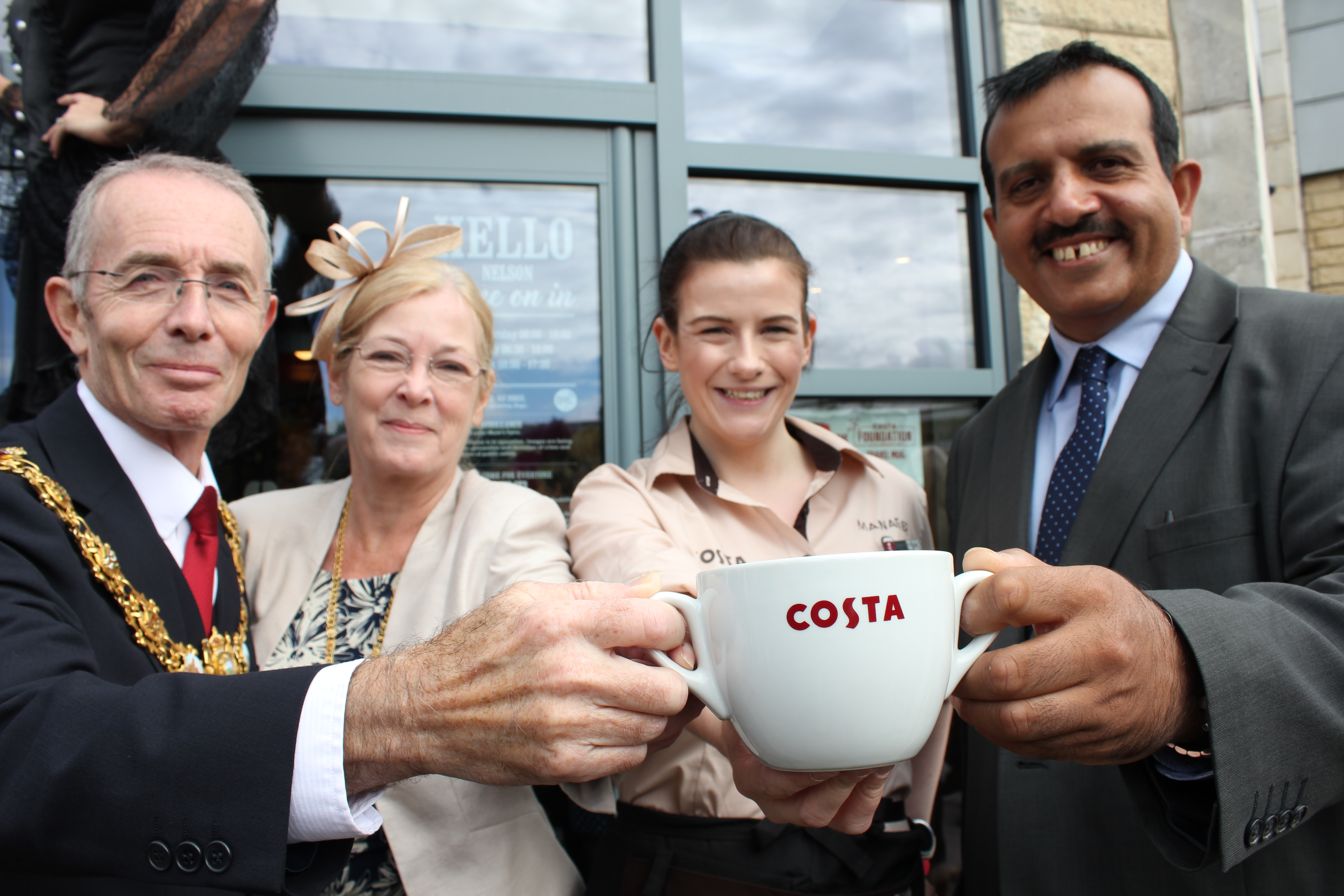 Nelson on the up & a caffeine rush as Costa opens!