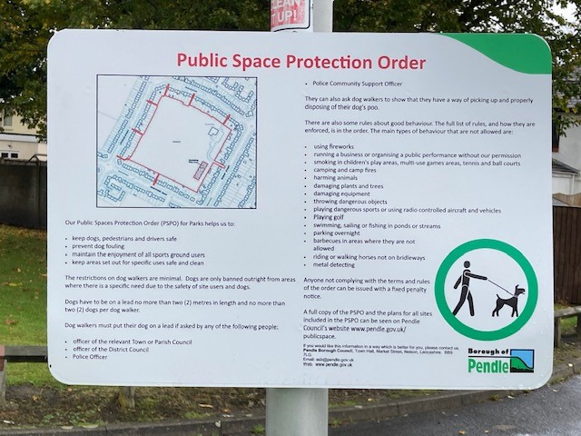 Power to enforce dog controls in Pendle parks