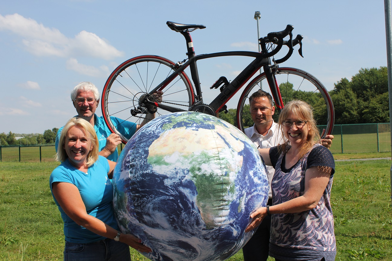 Gearing up for the challenge – cycle the world distance in 24 hours!