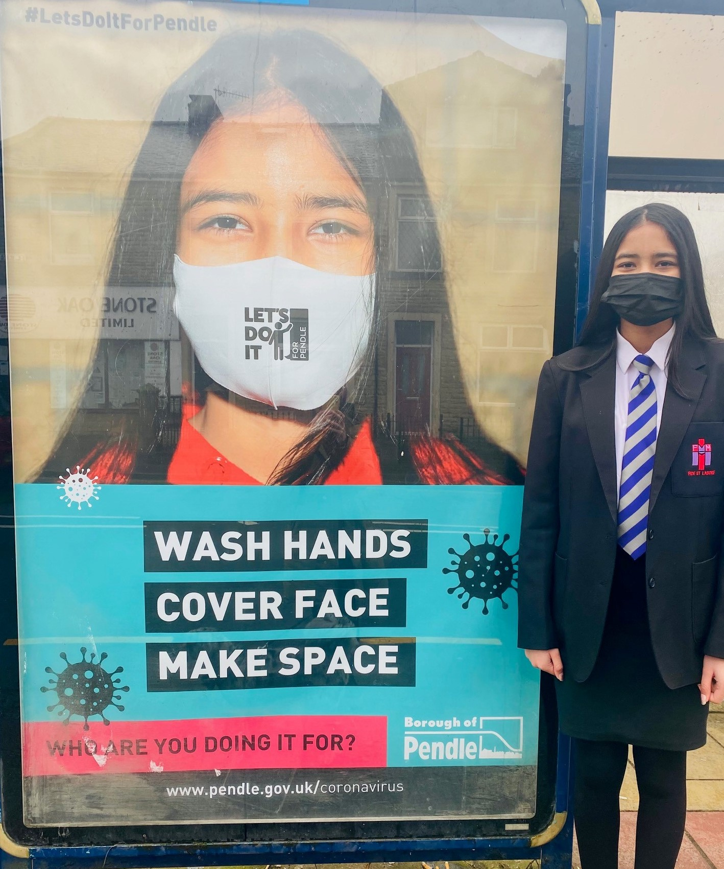 Ria is face of Pendle Council Covid campaign