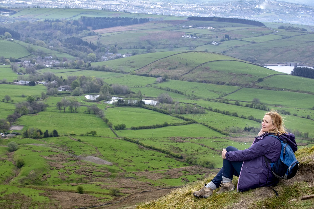 Bestselling author climbs Pendle Hill as new Quaker walk is developed