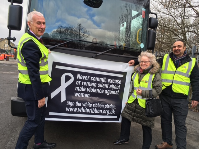 Sign the White Ribbon pledge!  That's the message rolling out across Pendle.