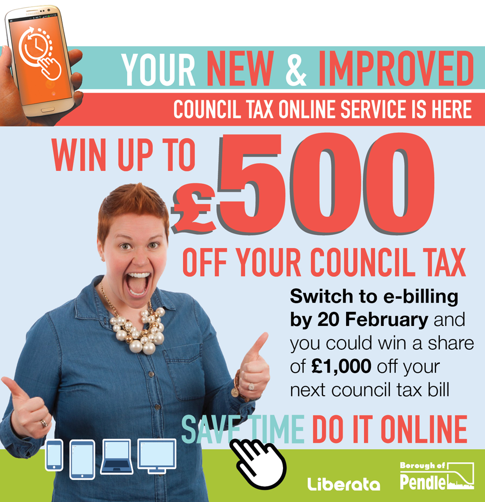 Switch to e-billing and you could win up to £500 off your next council tax bill