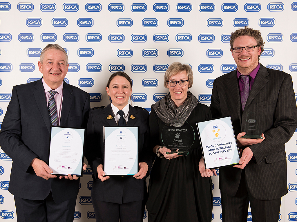 Best in England! Pendle's dog wardens scoop national RSPCA award