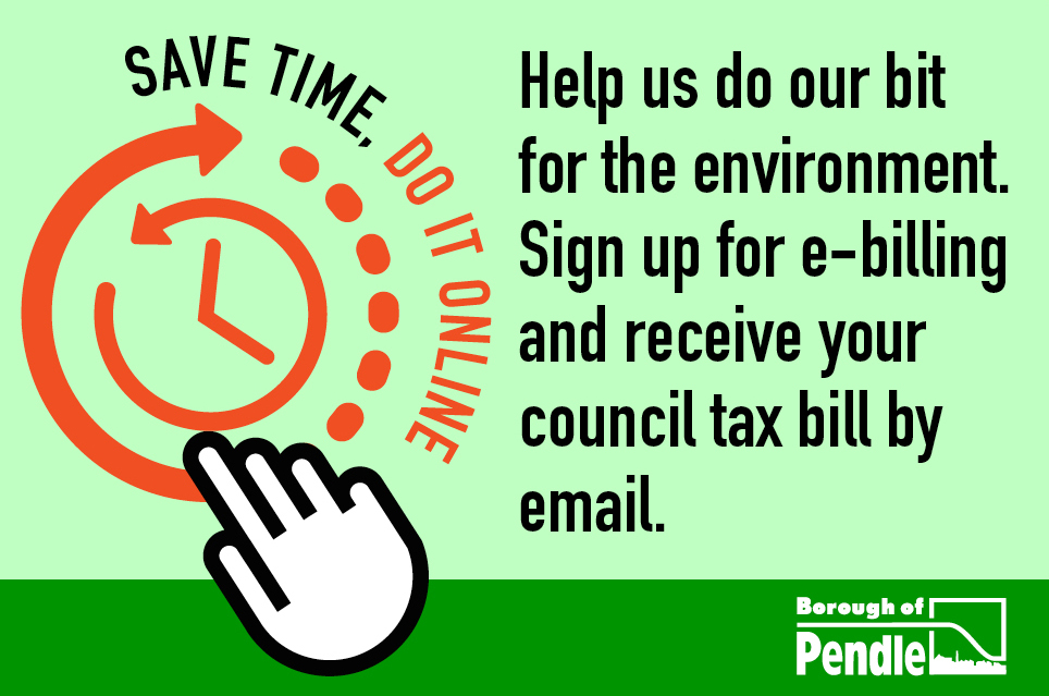 Help us do our bit for the environment and sign up for eBilling