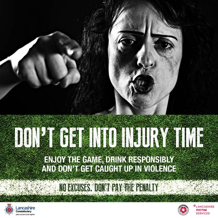 Pendle Community Safety Partnership gives domestic violence the red card!