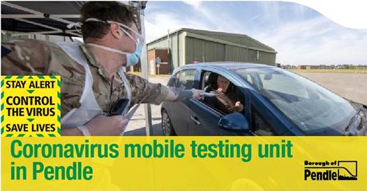 Get tested if you have symptoms - Coronavirus mobile unit returns to Pendle