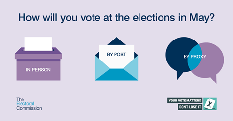 Make sure you can have your say at the elections in May